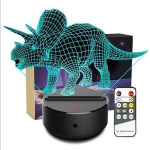 🟡 Night Light Dinosaur Triceratops LED